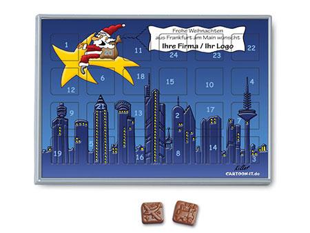Werbe-Adventskalender Frankfurt, cartoon-IT.de