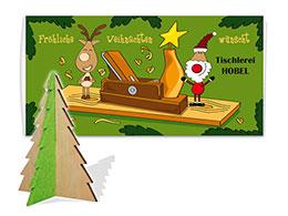 Weihnachtskarten mit Steckfigur Tannenbaum