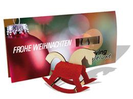 Steckfigurenkarte Filz Holz Pferd