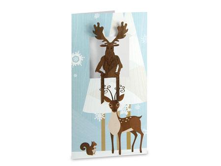 weihnachtskarte mit lesezeichen. Black Bedroom Furniture Sets. Home Design Ideas