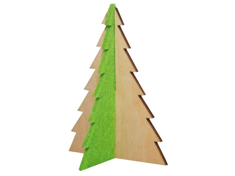 steckfigurenkarte tannenbaum aus filz und holz. Black Bedroom Furniture Sets. Home Design Ideas