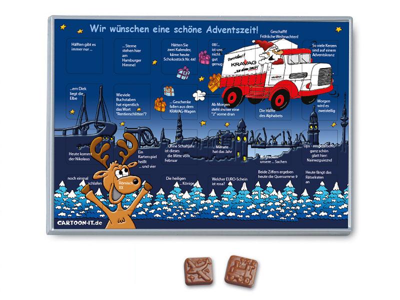 Rätsel Adventskalender Mit Schokolade Rätsel Adventskalender Mit Schokolade  ...