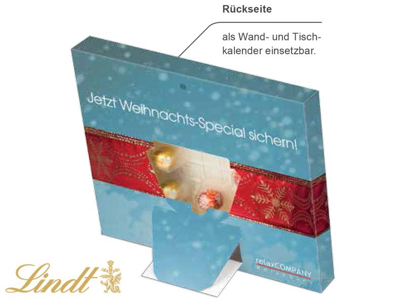 Tisch adventskalender lindt lindor for Design tisch adventskalender