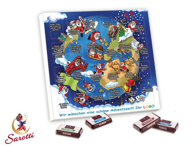Tisch adventskalender sarotti bedrucken for Design tisch adventskalender