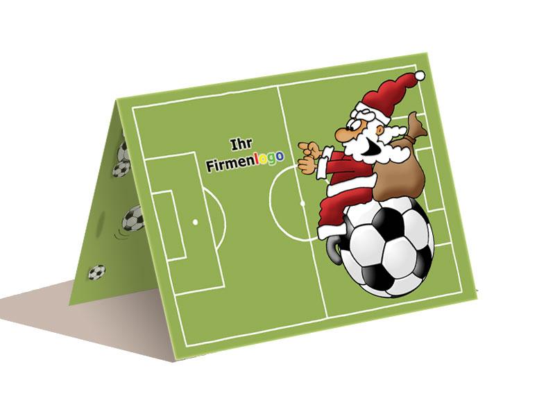 weihnachtskarte fussball ab 50 st ck eur. Black Bedroom Furniture Sets. Home Design Ideas