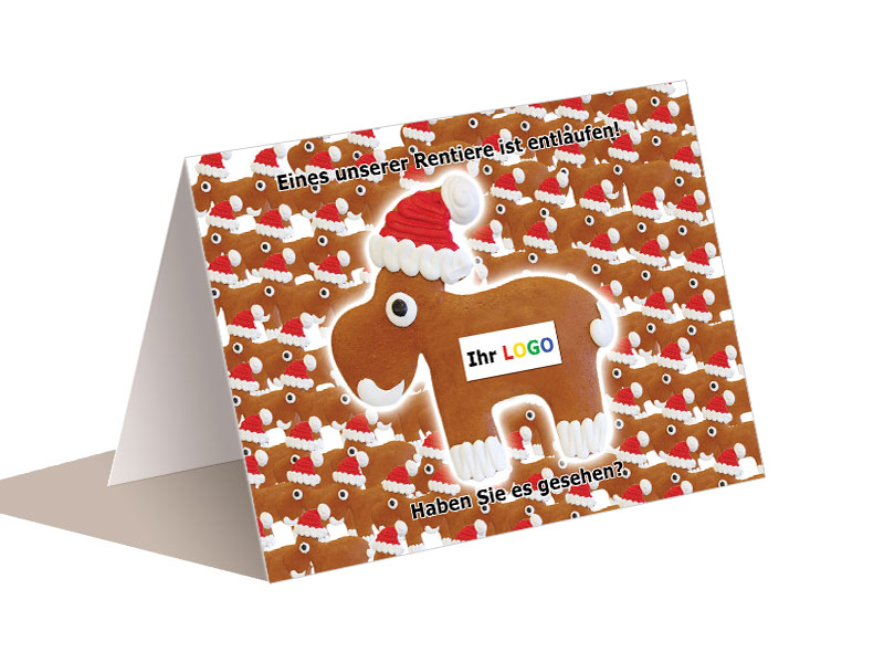 weihnachtskarten lebkuchen elch. Black Bedroom Furniture Sets. Home Design Ideas